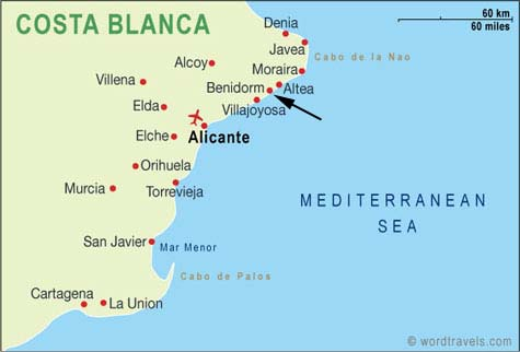 Map Of Spain Benidorm.Video Twin Waterspouts Near Shore Of Spanish Town The Galactic