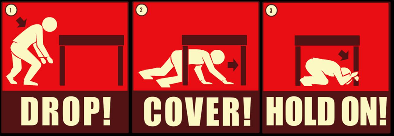 Earthquake Drill Cartoon